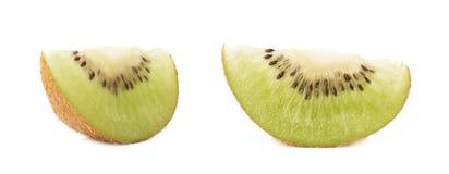 Sliced kiwifruit section isolated Royalty Free Stock Images