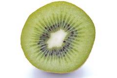 Sliced kiwifruit on white background royalty free stock images