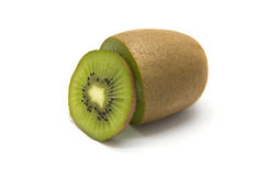 Sliced kiwifruit on white background royalty free stock photography