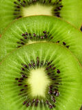 Sliced kiwis. Crop of kiwi slices Stock Images