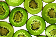 Sliced kiwis Royalty Free Stock Images