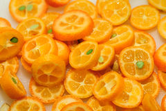Sliced kumquat Stock Photos