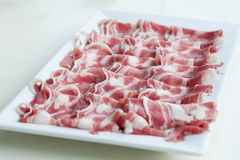 Sliced lamb meat Royalty Free Stock Images