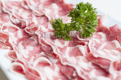 Sliced lamb meat Royalty Free Stock Photography