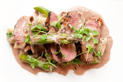 Sliced lamb sirloin Royalty Free Stock Photos