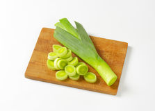Sliced leek Royalty Free Stock Photos