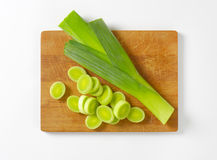Sliced leek Royalty Free Stock Image