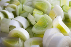 Sliced Leeks Stock Photo