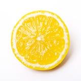 Sliced lemon. Isolated sliced fresh lemon in white background Royalty Free Stock Image