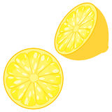 Sliced Lemon Stock Photography