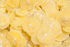 Sliced lemon as background Royalty Free Stock Images