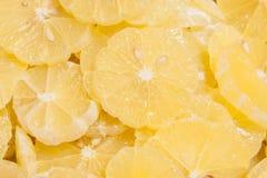 Sliced lemon as background Royalty Free Stock Photos