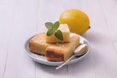 Sliced lemon cake Stock Photo