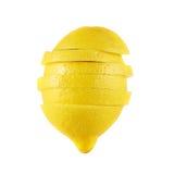 Sliced lemon fruit isolated Royalty Free Stock Image