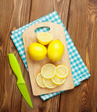 Sliced lemon fruits Stock Photo