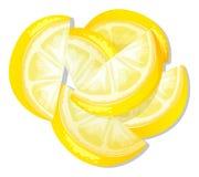 Sliced lemon Stock Photo