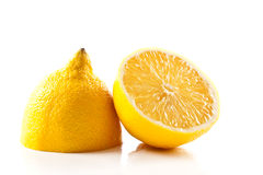 Sliced lemon isolated on white Stock Photos