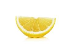Sliced of lemon isolated on the white background Royalty Free Stock Images