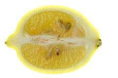 Sliced Lemon Macro Isolated Stock Images