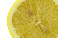 Sliced Lemon Macro Isolated Royalty Free Stock Photo