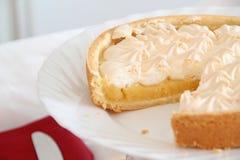 Sliced Lemon Meringue Pie Stock Images