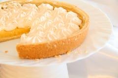 Sliced Lemon Meringue Pie Stock Photo