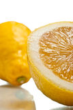 Sliced lemon over white Stock Photography