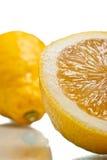 Sliced lemon over white Stock Photography