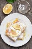 Sliced lemon pie, top view Stock Images