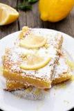 Sliced lemon pie Royalty Free Stock Images