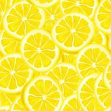 Sliced lemon seamless background Stock Images