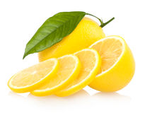 Sliced lemon Stock Images
