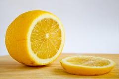 Sliced lemon. On white background stock images