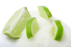 Sliced lime Royalty Free Stock Photos