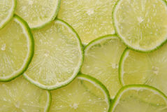 Sliced lime. Delicious sliced fresh and juicy lime royalty free stock photography