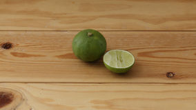 Sliced lime. Commonly served with Thai fried rice stock photography