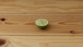 Sliced lime. Commonly served with Thai fried rice stock photo