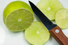Sliced Lime Fruit Stock Photo