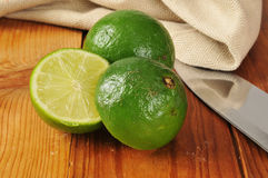 Sliced limes Royalty Free Stock Images