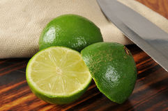 Sliced limes Royalty Free Stock Image