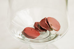 Sliced lipstick Stock Photography