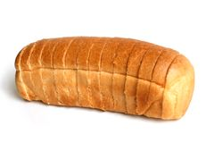 Sliced loaf of bread. On white background Stock Images