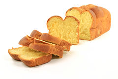 Sliced Loaf Egg Bread. Stock Image
