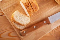 Sliced ​​loaf (long loaf) Royalty Free Stock Image