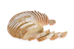 Sliced loaf of potato and rosemary bread Stock Images
