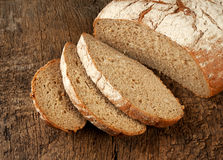 Sliced loaf of rye bread Stock Photos