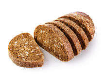 Sliced loaf of rye bread Royalty Free Stock Images