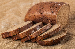 Sliced loaf rye bread Stock Images