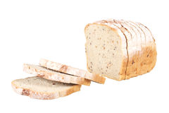 Sliced loaf of spelled bread Royalty Free Stock Images