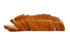 Sliced loaf of wheat bread Royalty Free Stock Images